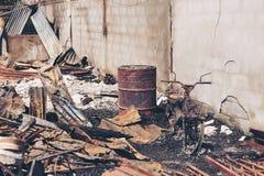 Fuego en la ciudad Imágenes de archivo libres de regalías