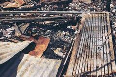 Fuego en la ciudad Foto de archivo libre de regalías