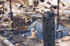 Fuego en la ciudad Fotos de archivo