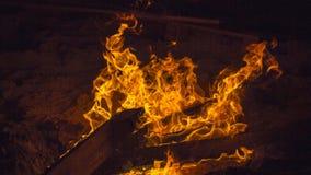 Fuego en la playa Foto de archivo