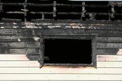 Fuego en la ventana Foto de archivo libre de regalías