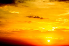 Fuego en los cielos Fotos de archivo