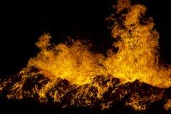 Fuego en negro Fotografía de archivo libre de regalías