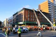 Fuego en New York City Imagen de archivo libre de regalías
