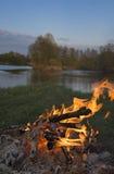 Fuego en viaje fotografía de archivo libre de regalías