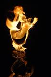 Fuego en vidrio Fotos de archivo