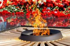 Fuego eterno fotografía de archivo