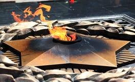 Fuego eterno en Almaty Imágenes de archivo libres de regalías