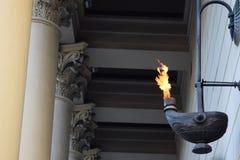 Fuego eterno en memoria de los héroes caidos Foto de archivo