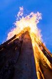 Fuego exterior Foto de archivo