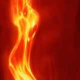 Fuego femenino abstracto Fotografía de archivo