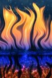 Fuego fuera del agua Fotografía de archivo libre de regalías