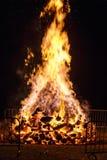 Fuego grande para el día nacional en Suiza Imagenes de archivo