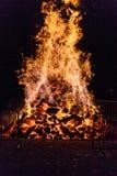Fuego grande para el día nacional en Suiza Fotografía de archivo