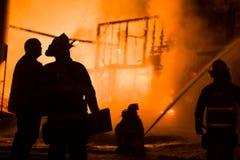 Fuego histórico de la granja de Vermont Imágenes de archivo libres de regalías