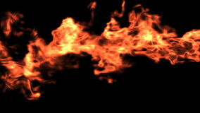 Fuego horizontal con mate alfa ilustración del vector