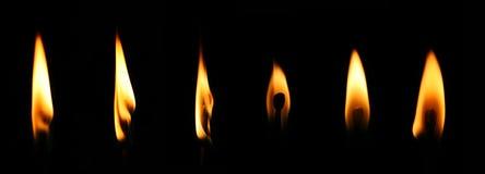 Fuego, llama, matchstick Imágenes de archivo libres de regalías
