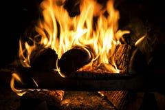 Fuego, llamas Fotografía de archivo libre de regalías