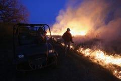 Fuego manejado de la pradera imagenes de archivo