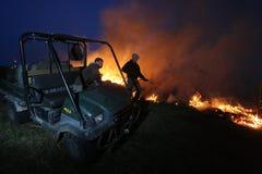 Fuego manejado de la pradera foto de archivo