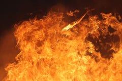 Fuego manejado de la pradera fotos de archivo