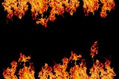 fuego o llama ardiendo i del amarillo, anaranjado y rojo y rojo del fuego de la pared, Fotografía de archivo