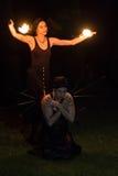 Fuego para mujer Imagen de archivo