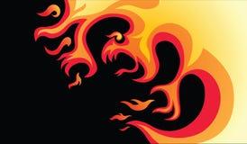 Fuego peligroso stock de ilustración