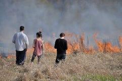 Fuego por el Vístula Foto de archivo libre de regalías