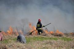 Fuego por el Vístula Imagen de archivo libre de regalías