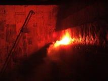Fuego por noche Fotografía de archivo