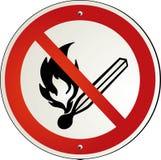 fuego prohibido Fotografía de archivo libre de regalías