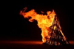 Fuego que acampa Fotos de archivo libres de regalías