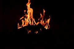 Fuego real hermoso Imagen de archivo