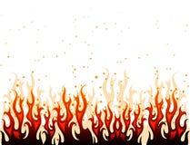 Fuego rojo y amarillo Fotos de archivo libres de regalías
