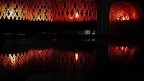 Fuego romántico y místico de la luz de la vela almacen de metraje de vídeo