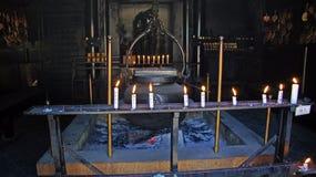 Fuego santo de Reikado Pasillo en el soporte Misen en Miyajima Foto de archivo