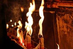 Fuego santo Jerusalén Imagen de archivo libre de regalías
