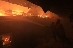 Fuego tradicional del mercado Foto de archivo