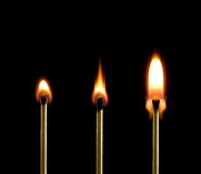 Fuego (tres emparejamientos). Fotos de archivo libres de regalías