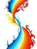 Fuego y agua ilustración del vector