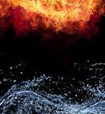 Fuego y agua Foto de archivo libre de regalías