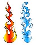 Fuego y agua Fotografía de archivo
