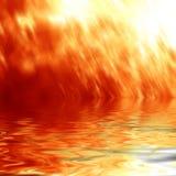 Fuego y agua Fotografía de archivo libre de regalías