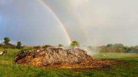 Fuego y arco iris Fotos de archivo