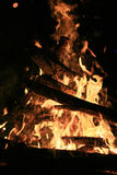 Fuego y ascua foto de archivo libre de regalías