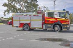 Fuego y camión del rescure de Queensland fotos de archivo libres de regalías