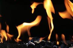Fuego y carbón Imagen de archivo libre de regalías