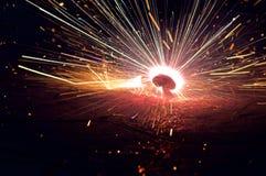 Fuego y chispas Fotos de archivo libres de regalías