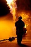 Fuego y hombre fotos de archivo libres de regalías